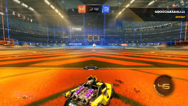 skhter playing Rocket League