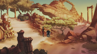 angelsk playing Broken Sword 5 – The Serpent's Curse